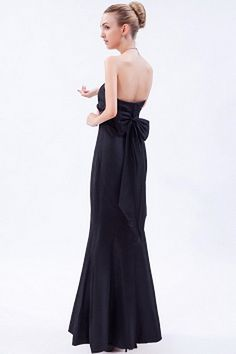 Sweetheart Taffeta Black Evening Gown ted1350 - SILHOUETTE: Trumpet/Mermaid; FABRIC: Taffeta; EMBELLISHMENTS: Bowknot , Ruched; LENGTH: Floor Length - Price: 163.3700 - Link: http://www.theeveningdresses.com/sweetheart-taffeta-black-evening-gown-ted1350.html