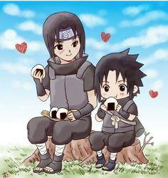 The uchiha brothers 🥰 Otaku Anime, Anime Naruto, Chibi Anime, Naruto Comic, Naruto Cute, Anime Kawaii, Itachi Uchiha, Naruto Sasuke Sakura, Naruto Shippuden Sasuke
