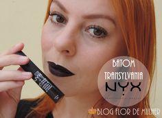 Review do batom lindo Transylvania da NYX Confira no link: http://www.blogflordemulher.com.br/2015/10/review-batom-liquido-matte-transylvania.html