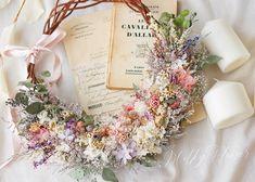 MilkyFlower* yoshikoさんはInstagramを利用しています:「* My wedding * カラードレスはMaisonSUZUさんのすみれ色のドレスを着ました* ドレスに合わせて作ったナチュラルなリースブーケ * * ドライフラワーとプリザーブドフラワーをmixして仕上げました♡ グリーンと小花いっぱいのBOTANICALなイメージで…」