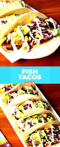This Is The Only Fish Taco Recipe You'll Ever NeedDelish red cabbage . Fish Tacos With Cabbage, Cabbage Slaw, Red Cabbage, Taco Recipe, Delish, Ethnic Recipes, Food, Purple Cabbage, Meals