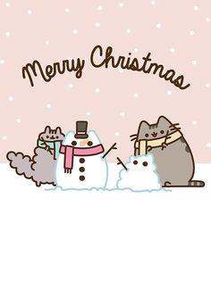Merry Christmas, Pusheen and Stormy! Pusheen Christmas, Merry Christmas Cat, Christmas Humor, Christmas Ideas, Christmas Inspiration, Christmas Wreaths, Gato Pusheen, Pusheen Love, Pusheen Stickers