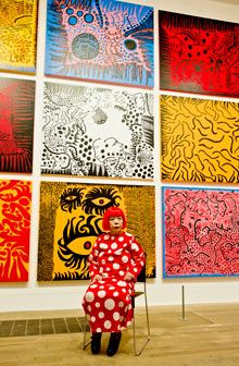 Yayoi Kusama made a painting a day for her exhibition at the Tate Modern when she was 83.
