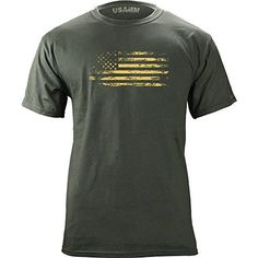 Distressed American Flag T-Shirt (X-Large, Green) - http://www.exercisejoy.com/distressed-american-flag-t-shirt-x-large-green/athletic-clothing/