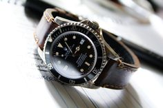 Rolex Sea Dweller 16600 on a brown leather strap