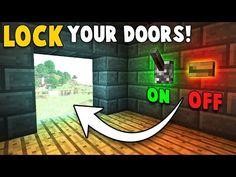 Super Simple LOCKABLE DOOR! - Minecraft Tutorial - YouTube