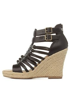 Knotted Gladiator Espadrille Wedge Sandals: Charlotte Russe #heels #wedges