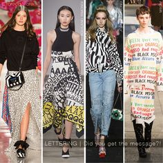 LETTERING TREND at MILAN SS18