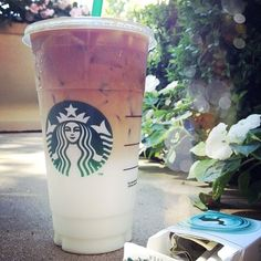 This Starbucks drink right here is simply marvelous... it's called a iced non fat skinny caramel macchiato...
