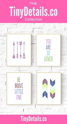 You are so loved and be brave little one. Nursery art, nursery décor, nursery quotes, modern nursery, nursery artwork, kids, baby, and nurseries all at www.tinydetails.co
