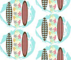 Stitch-flower Surfboards fabric by garwooddesigns on Spoonflower - custom fabric