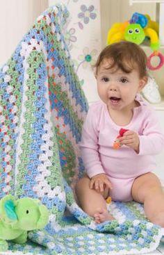 Free Crochet Granny Blanket Pattern.
