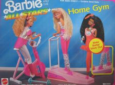 Barbie and the All Stars HOME GYM Playset w Ski Track, CYCLE & MORE! (1990 Arco Toys, Mattel) by Arco Toys, Mattel. $199.99