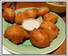 Bahamian Conch Fritters #recipes tried these while in the Bahamas and they were actually delish!