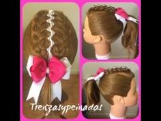 Trenza Tejida con Liston – Braid with Ribbon Weave Trenza Tejida con Liston – Braid with Ribbon Weav Hair Color, Weaving, Braids Ideas, Hair Styles, Videos, Youtube, Braided Updo, Braids With Weave, Child Hairstyles