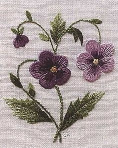 Wonderful Ribbon Embroidery Flowers by Hand Ideas. Enchanting Ribbon Embroidery Flowers by Hand Ideas. Brazilian Embroidery Stitches, Silk Ribbon Embroidery, Crewel Embroidery, Cross Stitch Embroidery, Embroidery Patterns, Flower Embroidery, Embroidery For Beginners, Embroidery Techniques, Bordado Floral