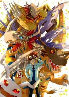Raichi and Agumon digievolutions.