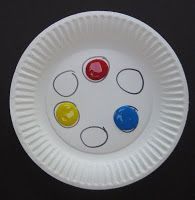 Use this when teaching color mixing to kinder -- pre-draw six circles in diameter each), then squirt red, yellow and blue on the plate. Students mix colors in empty circles. Great for learning placement of colors on color wheel. Kindergarten Colors, Kindergarten Art Lessons, Preschool Colors, Teaching Colors, Art Lessons Elementary, Preschool Art, Teaching Art, Mouse Paint, 2 Kind