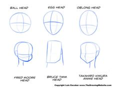 Another guide on drawing differently-shaped heads. Draw something round, then draw some edges on top of that.