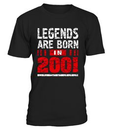 CHECK OUT OTHER AWESOME DESIGNS HERE!     Legends are born in 2001 T-Shirt for girls and boys made in 2001. Age 16 Years old teenager vintage t-shirt can be a Perfect 16th Birthday Gift T-Shirt for women and men born in 2001 year. This awesome 16th birthday shirt is a great gift idea for a 16th party, graduation party. Born in 2000 and 2001 16th birthday idea.   Look for a gift idea for someone born in 2000 or 2001? Turning 16 years old? Then this sweet 16 birthday shirt is perfect f...