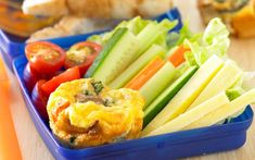 Mini vegetable frittatas recipe - By Woman's Day, Add a selection of raw vegetable sticks to these bite-sized frittatas and the school lunchbox never looked or tasted so good. Quick And Easy Appetizers, Easy Appetizer Recipes, Easy Healthy Recipes, Quick Meals, Healthy Lunches, Healthy Food, Healthy Eating, Fish And Chips Baked, Baked Fish