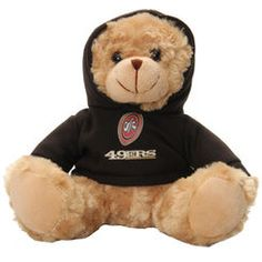 "San Francisco 49ers Bleacher Creatures 9"" Hoodie Bear"