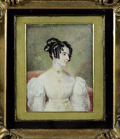 Fine antique c.1800 portrait miniature of a Regency lady – with provenance