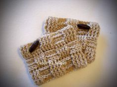 crochet boot cuff patterns for children | Name: 'Crocheting : Waffle Boot Cuff Crochet Pattern
