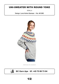 Uni-Sweater with Round Yoke in BC Garn Semilla - 4013BC - Downloadable PDF. Discover more patterns by BC Garn at LoveKnitting. The world's largest range of knitting supplies - we stock patterns, yarn, needles and books from all of your favourite brands.
