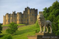 Alnwick Castle, Northumberland, best known for its starring role as Hogwarts in two of the Harry Potter films