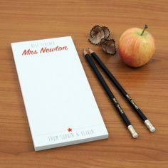 Teacher Notepad - Best Teacher from able-labels.co.uk