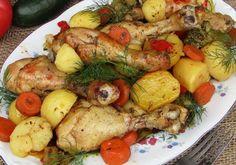 Pałki z kurczaka pieczone z warzywami - DoradcaSmaku - ten przepis cieszy się popularnością, sprawdź. Chicken, Meat, Food, Essen, Meals, Yemek, Eten, Cubs