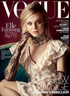 Elle Fanning for Vogue Australia March 2016.