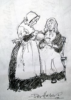 'Old Maids', Higher Brixham by artist Peter Archer. Maids, Archer, Artist, Sterling Archer, Artists