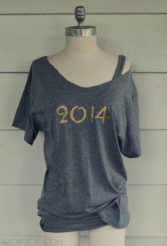 WobiSobi: Glitter 2014 Tee-shirt, DIY