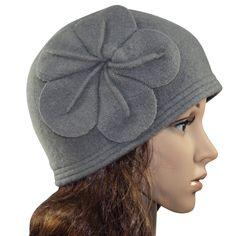 Vintage Flower Wool Cloche Bucket Hat