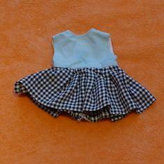 Toll-Puppen-Kurzaermliges-Kleid-blaukariert-tuerkis-wunderschoen