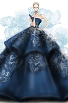 Gorgeous fashion illustration