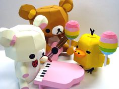 Papercraft Instruction: Rilakkuma n Friends | web wanderers