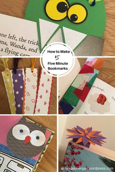 How to Make Five 5 Minute Bookmarks Bookmarks Kids, How To Make Bookmarks, Monster Bookmark, Class Activities, Girls Club, Hole Punch, Have Some Fun, Color Card, Fathers Day
