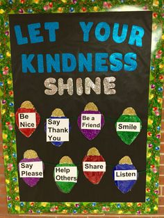 Winter school nurse bulletin board  Let your kindness shine