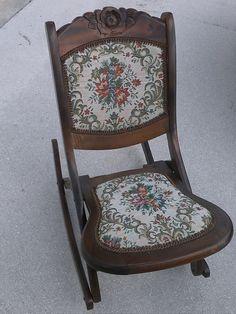 antique rocking chairs value ergonomic chair review 46 best vintage images folding wood sewing nursing rocker rare