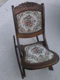 Antique Rocking Chair Late 1800 S Victorian Sewing Chair