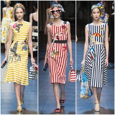 collage Dolce and Gabbana Dresses | ... 2016: Dolce and Gabbana Spring/Summer 2016 Photos + Full Runway Video