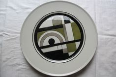 "Mikasa CONGLOMERATE EPIQURE ONE 4510 Large Dinner Plate GEOMETRIC 11"" Vintage #Mikasa"
