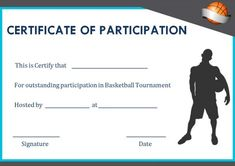 Free basketball certificate of participation basketball basketball camp participation certificates sample certificatebasketball netball yadclub Image collections