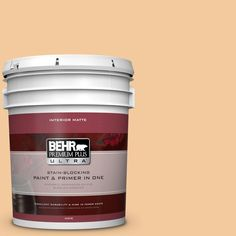 BEHR Premium Plus Ultra 5 gal. #M240-4 Sheer Apricot Matte Interior Paint