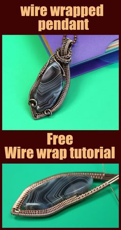 DIY Wire wrap Pendant. How do you wire wrap a stone to make a pendant? Free Wire wrapped tutorial step by step. Valeriy Vorobev. Today we are going to use a piece of agate to make a pendant. This assembling scheme can be used for stones of any shape. The stone has a hole, which makes it much easier to fasten the agate when making the jewelry.