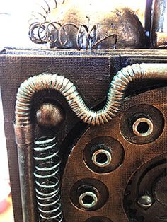 boozy bear: Anything Goes- Steampunk Industrial Art Ideas, Steampunk, Industrial, Scrapbook, Bear, Projects, Log Projects, Scrapbooks, Bears