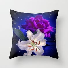 Magic Flowers  Throw Pillow by Elena Indolfi - $20.00